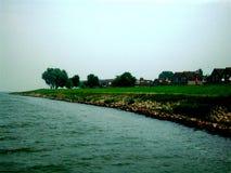 Villaggio storico Medemblik, Olanda, Paesi Bassi Fotografia Stock