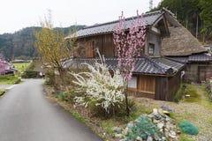 Villaggio storico Miyama a Kyoto, Giappone fotografia stock libera da diritti