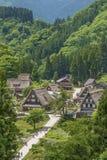 Villaggio storico nel Giappone Fotografia Stock Libera da Diritti