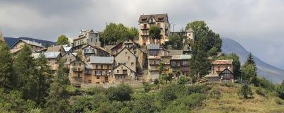 Villaggio storico nelle alpi no.1 Fotografie Stock