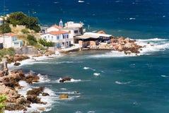 Villaggio su una spiaggia Fotografie Stock