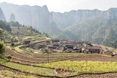 Villaggio in sud della Cina Fotografia Stock Libera da Diritti