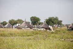 Villaggio sudanese del sud Immagini Stock Libere da Diritti