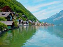 Villaggio sul lago Fotografia Stock