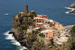 Villaggio sul litorale dell'Italia Fotografie Stock
