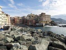 Villaggio sul mare a Genova Boccadasse Immagine Stock