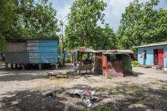 Villaggio sull'isola tropicale di Dravuni Fotografie Stock Libere da Diritti