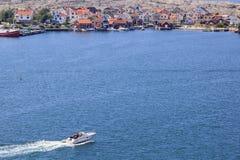 Villaggio svedese del litorale fotografie stock