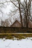 Villaggio svedese medievale Kallavere nell'inverno Immagine Stock Libera da Diritti