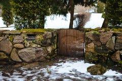 Villaggio svedese medievale Kallavere nell'inverno Fotografie Stock Libere da Diritti