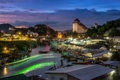 Villaggio Tailandia del pescatore Fotografia Stock Libera da Diritti