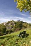 Villaggio tedesco su una collina Fotografia Stock