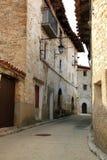 Villaggio Teruel di Villarroya de los Pinares Immagine Stock