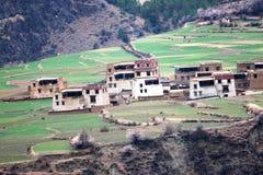 Villaggio tibetano Fotografia Stock Libera da Diritti