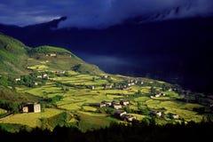 Villaggio tibetano Fotografie Stock Libere da Diritti