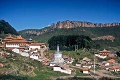 Villaggio tibetano, Cina Fotografie Stock