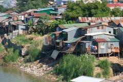 Villaggio tipico in sud-est asiatico Immagine Stock Libera da Diritti