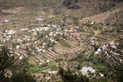 Villaggio tipico sull'isola di Gomera, Spagna Fotografie Stock Libere da Diritti