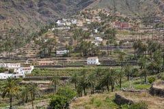 Villaggio tipico sull'isola di Gomera, Spagna Immagini Stock