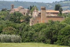 Villaggio toscano Fotografie Stock