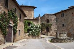 Villaggio toscano Fotografie Stock Libere da Diritti