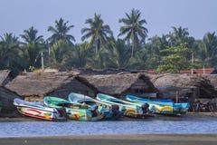 Villaggio tradizionale del pescatore in Kalpitiya, Sri Lanka Immagini Stock Libere da Diritti