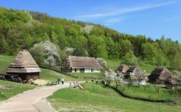 Villaggio tradizionale dell'Ucraina Immagini Stock Libere da Diritti