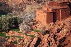 Villaggio tradizionale di berberi in alto atlante Immagini Stock Libere da Diritti