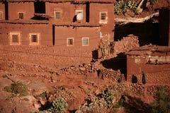 Villaggio tradizionale di berberi in alto atlante Fotografie Stock