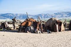 Villaggio tradizionale di Himba, Namibia Fotografie Stock