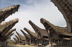 Villaggio tradizionale di Toraja Immagine Stock Libera da Diritti