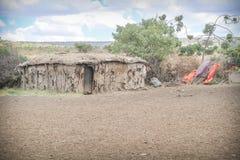 Villaggio tradizionale masai Immagine Stock Libera da Diritti