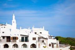 Villaggio tradizionale in Menorca, Spagna fotografie stock