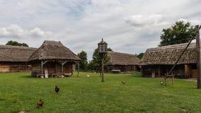 Villaggio tradizionale in Polonia Fotografia Stock Libera da Diritti