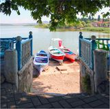 Villaggio turco del lago, Golyazi fotografie stock libere da diritti