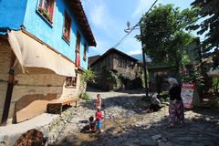Villaggio turco tradizionale Fotografia Stock