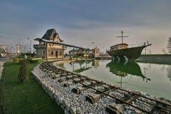 Villaggio turistico vicino a Bijeljina Fotografia Stock Libera da Diritti