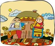 Villaggio ucraino illustrazione vettoriale