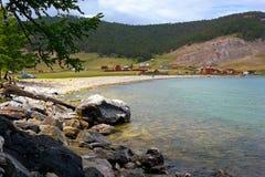 Villaggio sulla banca di Baikal Fotografie Stock Libere da Diritti