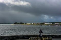 Villaggio a Valentia Island in Irlanda fotografie stock