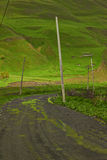 Villaggio in valle della montagna Immagine Stock Libera da Diritti