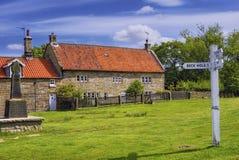 villaggio verde del goathland Fotografie Stock Libere da Diritti