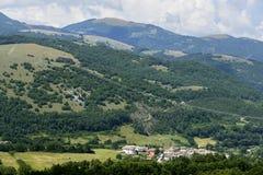 Villaggio vicino a Leonessa (Italia) Fotografia Stock