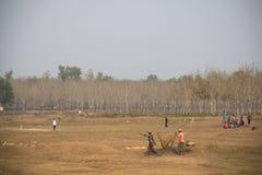 Villaggio vicino a Srimangal nel Bangladesh Fotografia Stock