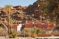 Villaggio vicino a Tafraout fotografia stock
