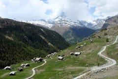Villaggio vicino a Zermatt Immagine Stock Libera da Diritti