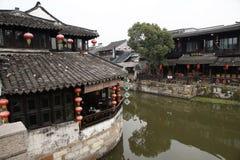 Villaggio Xitang dell'acqua fotografie stock libere da diritti