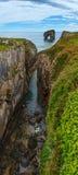 Villahormesklippen en canion, Spanje stock afbeeldingen
