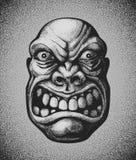 Villain. Angry man face Royalty Free Stock Image