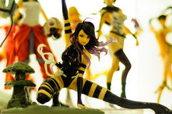 Villain Power Girl Figurine Royalty Free Stock Photo